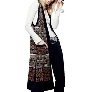 Free People Aztec Woven Sweater Vest